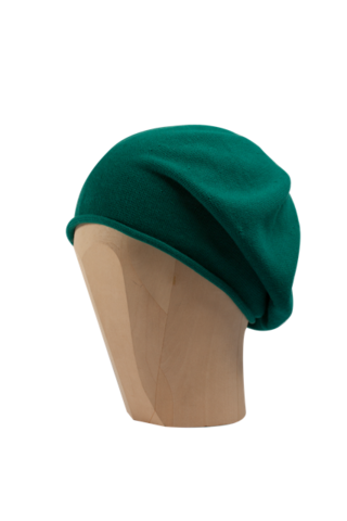 Kopka,Cotton,Roll-Up,Beret,-,Malachite,Cotton Beanie Kopka Jennigraf Kopka Cotton Beret Malachite Beret Basque Chemo Hat Indoor Summer