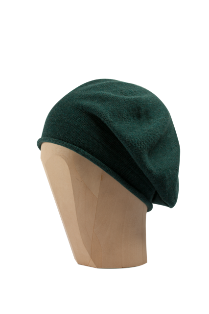 Kopka Cotton Roll-Up Beret - Emerald - product images  of