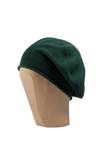 Kopka,Cotton,Roll-Up,Beret,-,Emerald,Cotton Beanie Kopka Jennigraf Kopka Cotton Beret Emerald Beret Basque Chemo Hat Indoor Summer