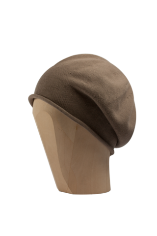 Kopka,Cotton,Roll-Up,Beret,-,Taupe,Cotton Beanie Kopka Jennigraf Kopka Cotton Beret Taupe Beret Basque Chemo Hat Indoor Summer