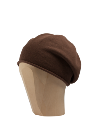 Kopka,Cotton,Roll-Up,Beret,-,Nougat,Cotton Beanie Kopka Jennigraf Kopka Cotton Bere Nougat Beret Basque Chemo Hat Indoor Summer