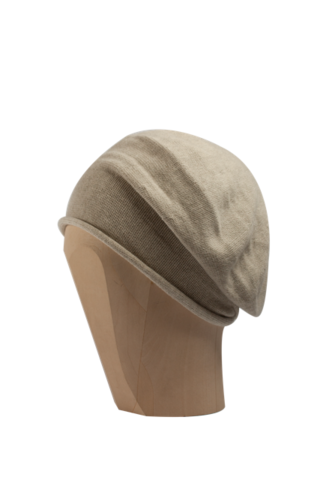 Kopka,Cotton,Roll-Up,Beret,-,Sand,Cotton Beanie Kopka Jennigraf Kopka Cotton Bere Sand Beret Basque Chemo Hat Indoor Summer