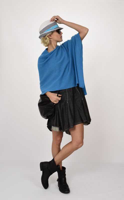 Poncho - Dress Topper - Deep Turquoise - product images  of
