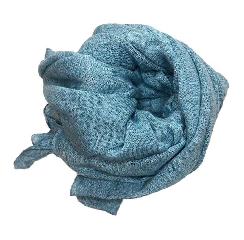 Poncho 100% Linen - Sea Blue - product images  of