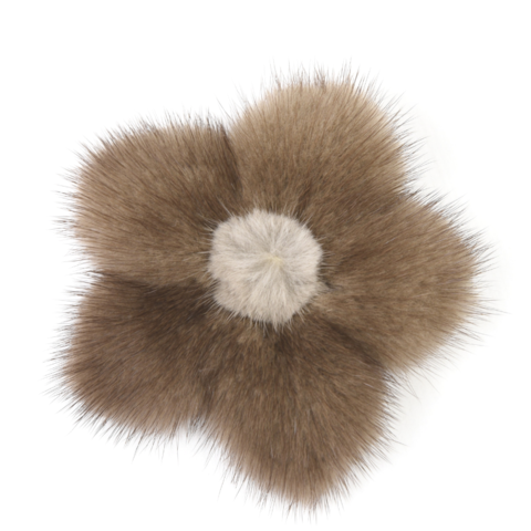Mink,Flower,Brooch,-,Demi,Buff,with,Creme,Center,Mink flower brooch jennigraf