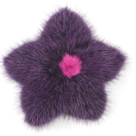 Mink,Flower,Brooch,-,Purple,with,Pink,Center,Mink flower brooch jennigraf