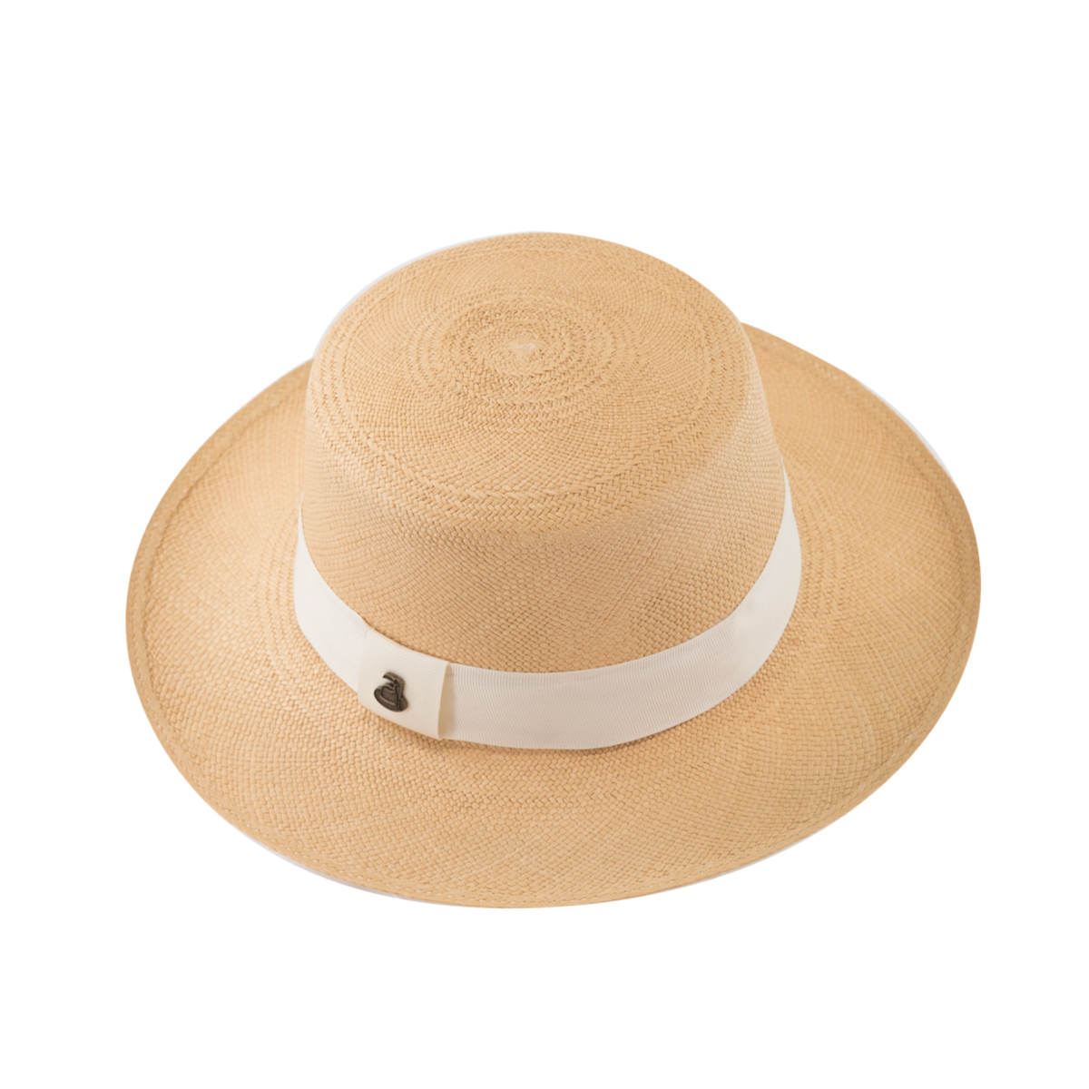 Panama Boater - Natural with White Band - product image