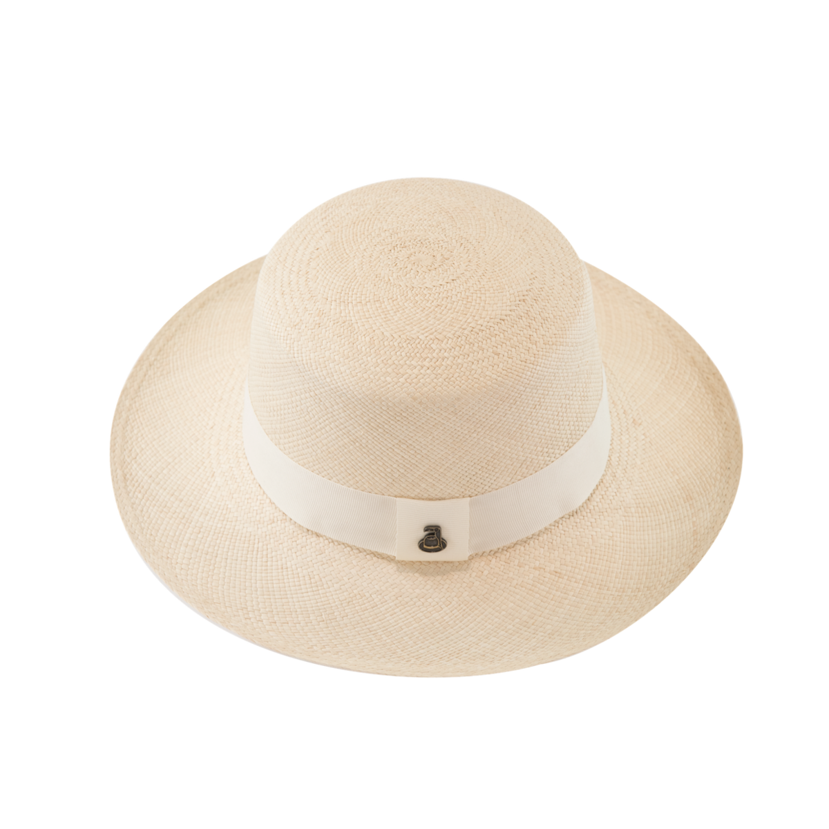 Panama Boater - White with White Band - product image