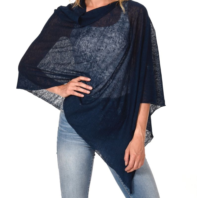 Poncho 100% Linen - Marlyn Blue - product images  of