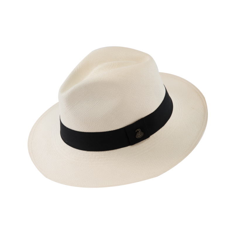 Classic Panama White with Black Band - product images  of