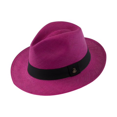 Classic,Panama,Fuchsia,with,Black,Band,Classic Panama Fuchsia with Black Band