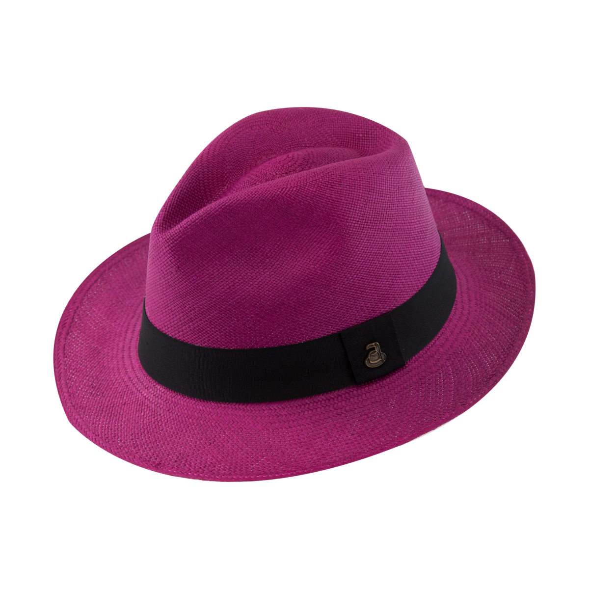 Classic Panama Fuchsia with Black Band - product images  of