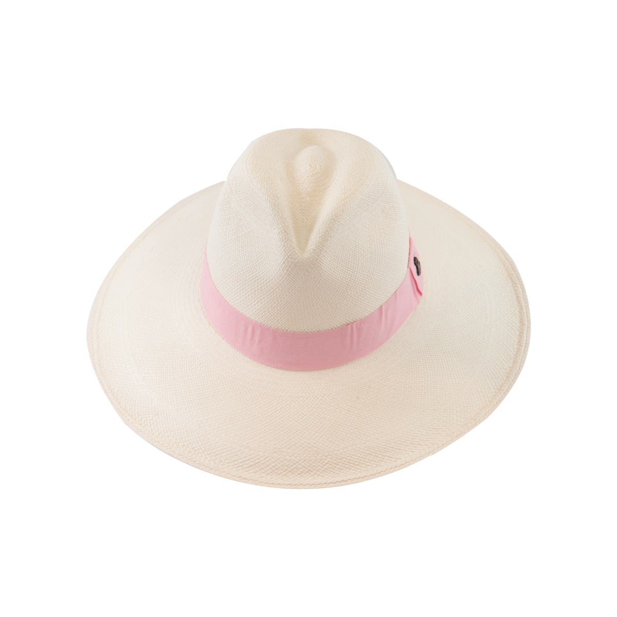 Classic Panama White with Pink Band, Large Brim - product images  of