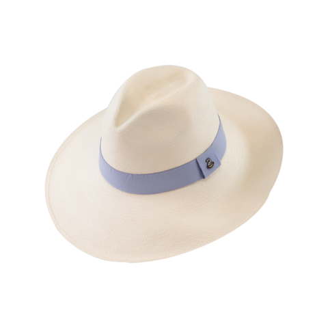 Classic,Panama,White,with,Purple,Band,,Large,Brim,Classic Panama White with Purple Band, Large Brim