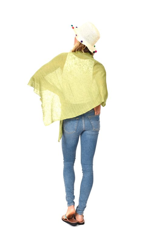 Poncho 100% Linen - Verde - product images  of