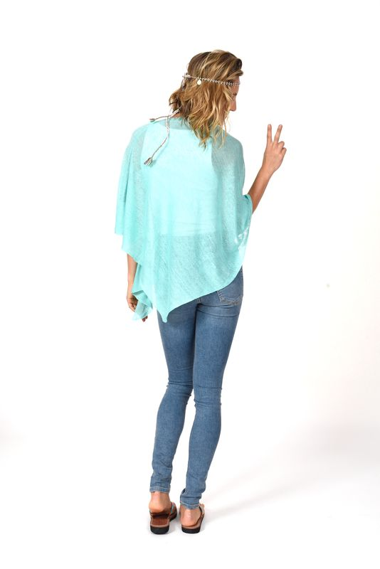 Poncho 100% Linen - Mint - product images  of