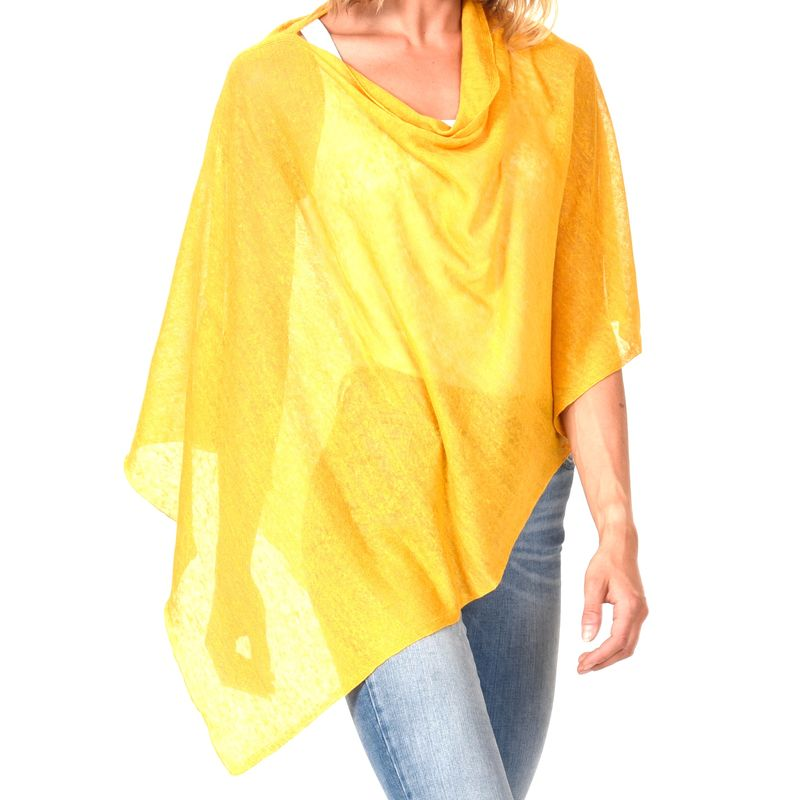 Poncho 100% Linen - Orzo - product images