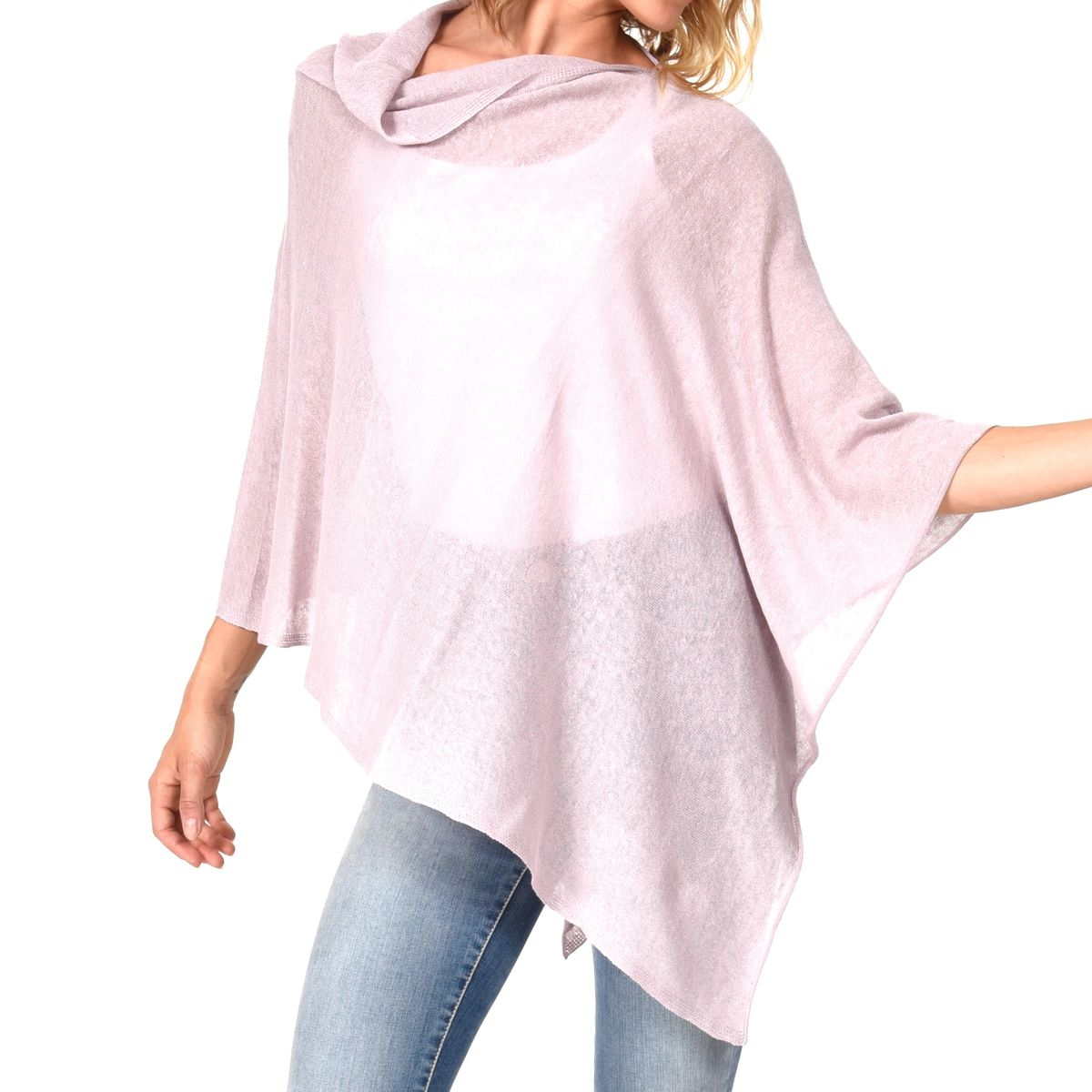 Poncho 100% Linen - Lila - product images  of