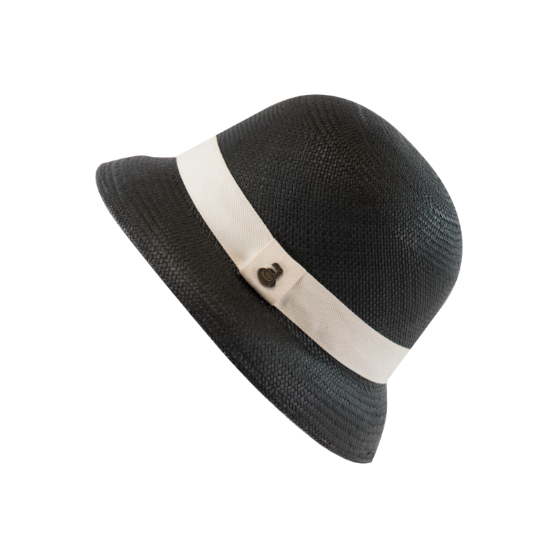 New Cloche Black with White Band - product images  of