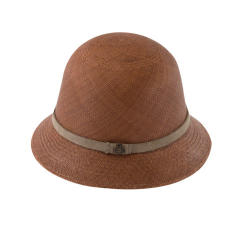 New,Cloche,Brown,with,Taupe,Band,New Cloche Brown with Taupe Band