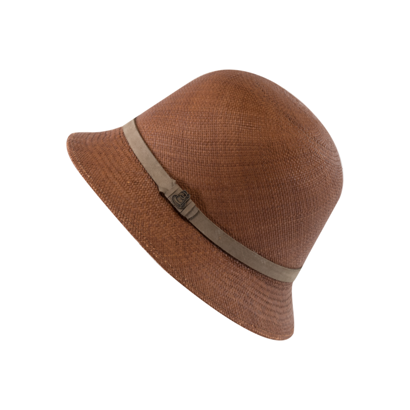 New Cloche Brown with Taupe Band - product images  of