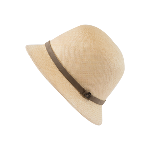New,Cloche,Natural,with,Taupe,Band,New Cloche Natural with Taupe Band