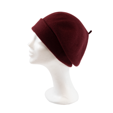 Kopka,Roll,Up,Beret,-,Bordeaux,Beret Kopka Wool Rollup - Bordeaux