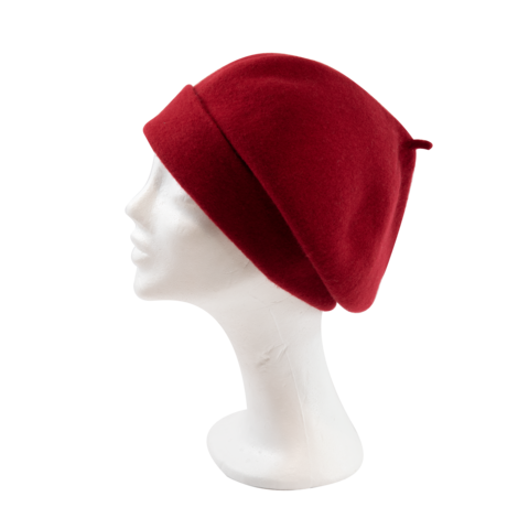 Kopka,Roll,Up,Beret,-,Chili,Beret Kopka Wool Rollup - Chili