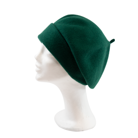 Kopka,Roll,Up,Beret,-,Emerald,Beret Kopka Wool Rollup - Emerald