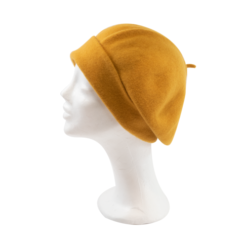 Kopka,Roll,Up,Beret,-,Gold,Beret Kopka Wool Rollup - Gold