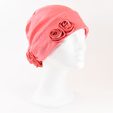 Linen,Turban,-,Nantucket,Red,Linen Turban Chemo Hairloss