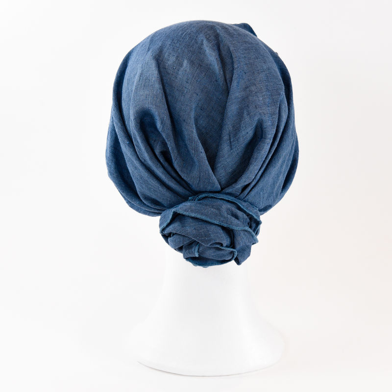 Linen Turban - Jeans Blue - product images  of