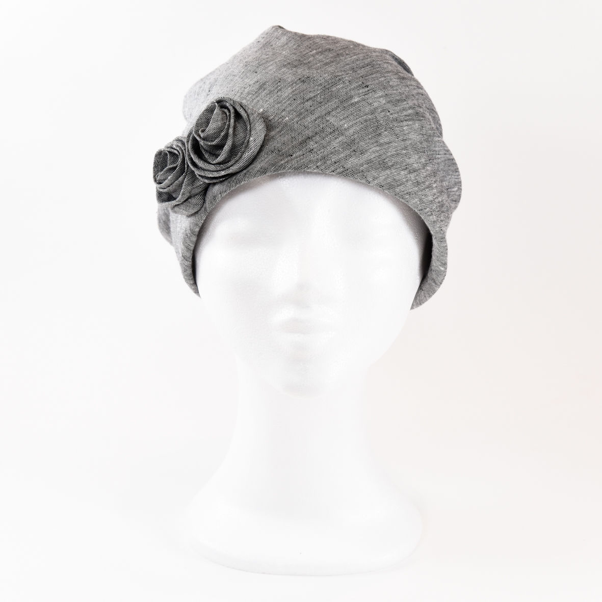Linen Turban - Grey - product images  of