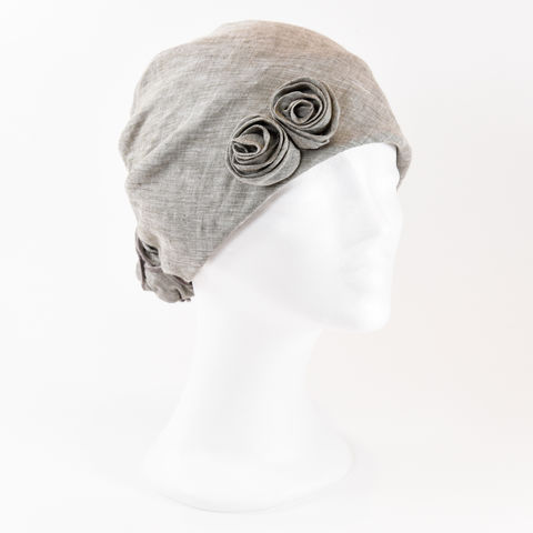 Linen,Turban,-,Taupe,Linen Turban Chemo Hairloss