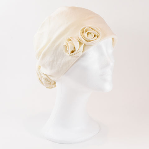 Linen,Turban,-,Wheat,Linen Turban Chemo Hairloss