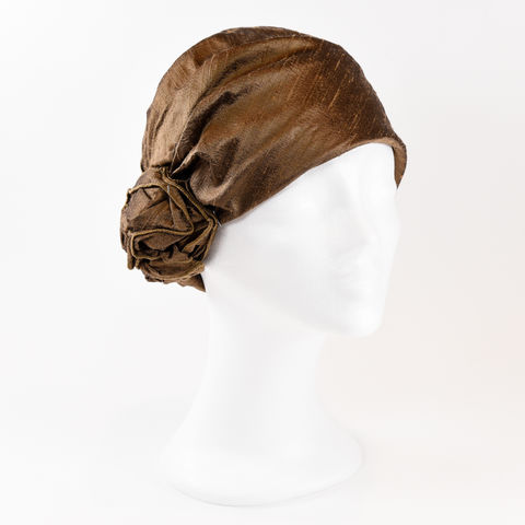 Silk,Turban,-,Cognac,Turban chemo hairloss