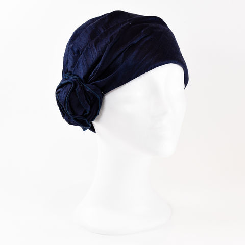 Silk,Turban,-,Navy,Turban chemo hairloss