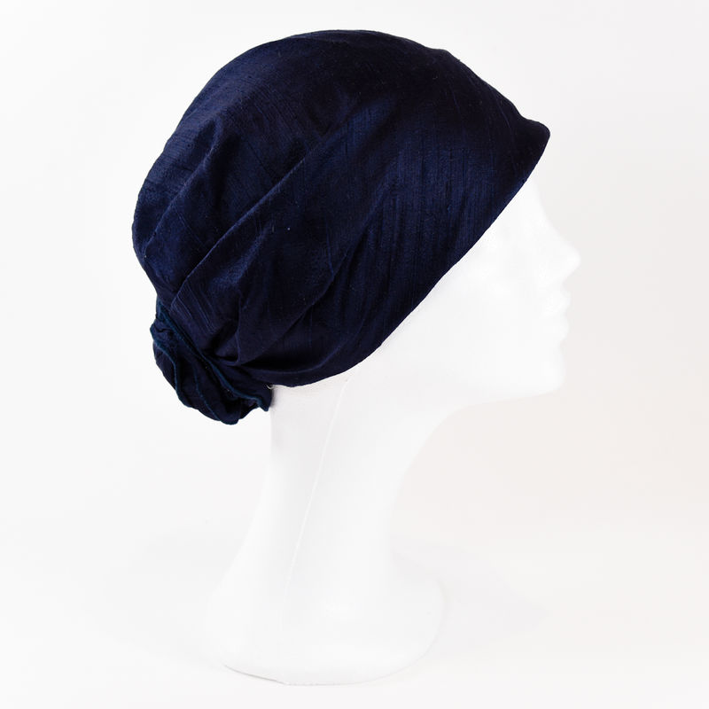Silk Turban - Navy - product images  of