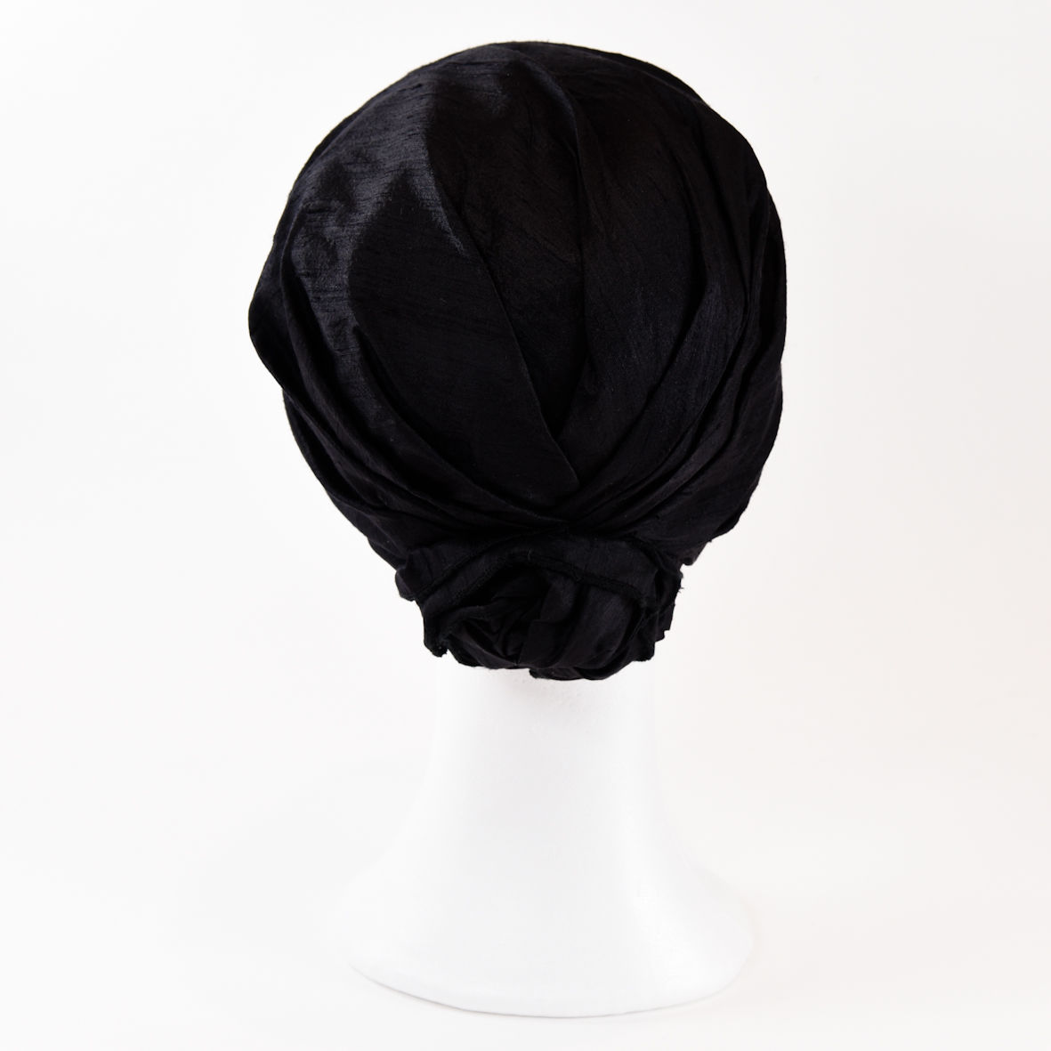 Silk Turban - Black - product images  of
