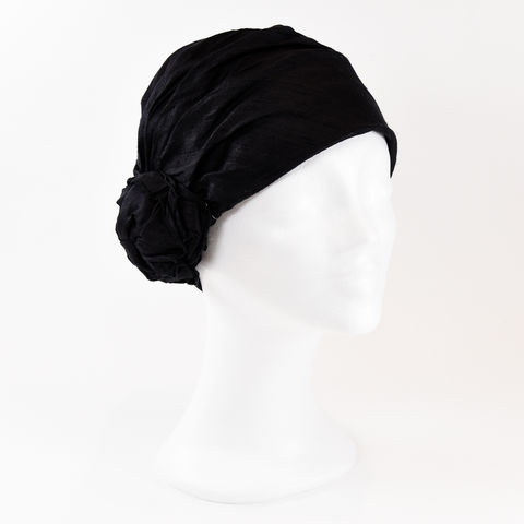 Silk,Turban,-,Black,Turban chemo hairloss