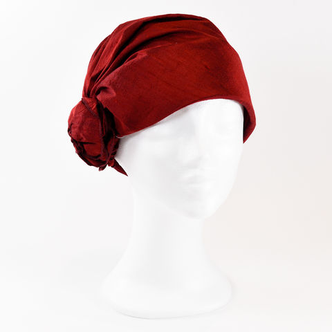 Silk,Turban,-Cherry,Turban chemo hairloss