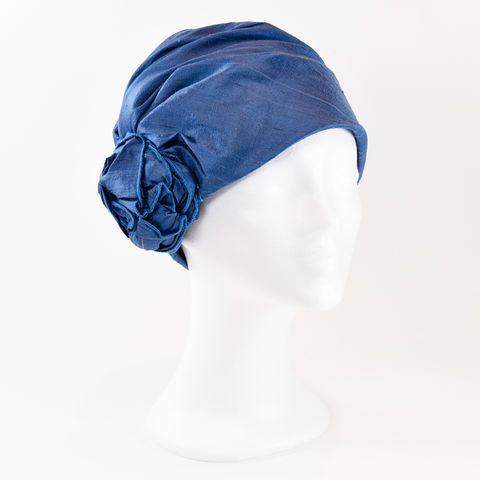 Silk,Turban,-,Ocean,Blue,Turban chemo hairloss
