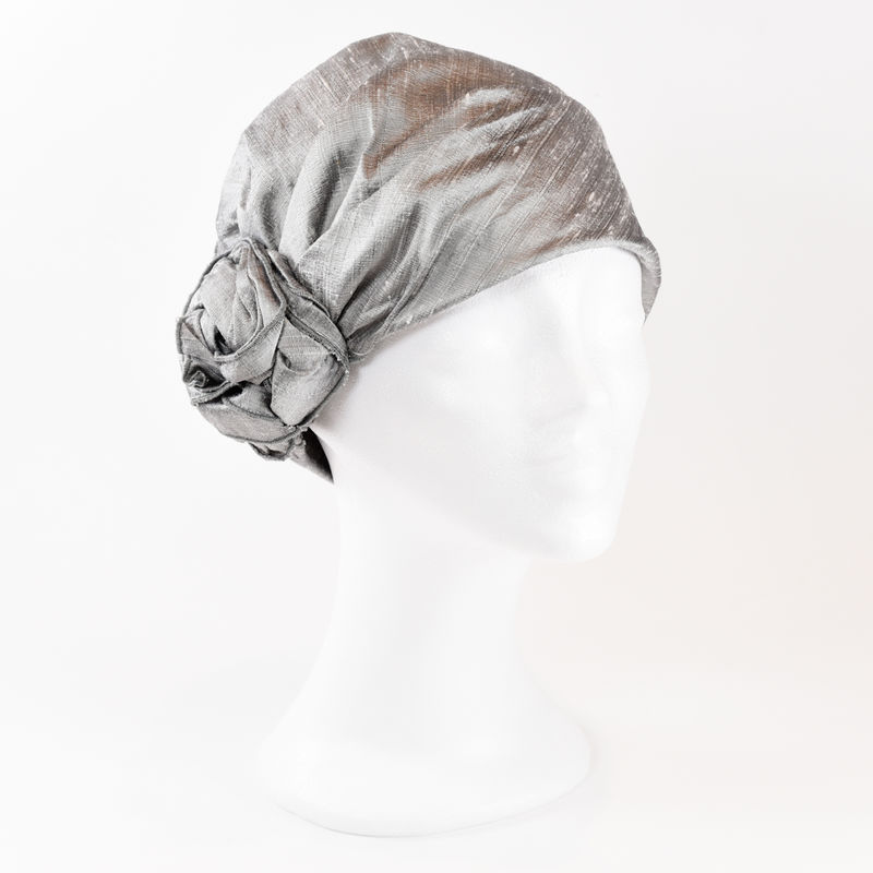 Silk Turban - Silver - product images  of