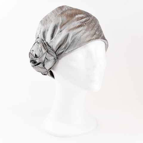 Silk,Turban,-,Silver,Turban chemo hairloss