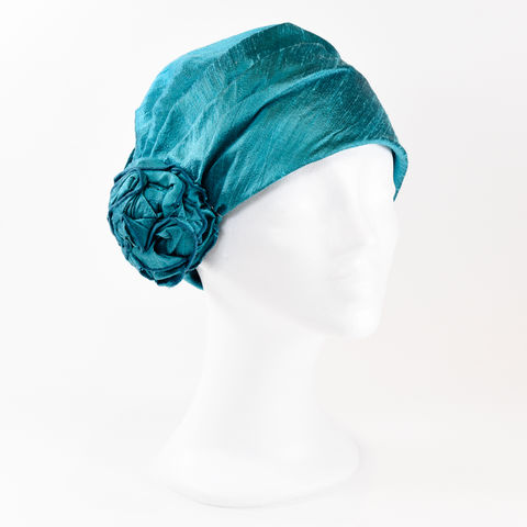 Silk,Turban,.,Turquoise,Turban chemo hairloss