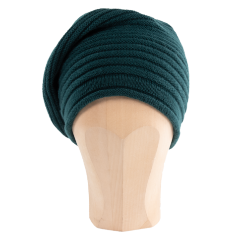 Horizontal,Knit,Beanie,-,BOTTLE,GREEN,Horizontal Knit Beanie Cashmere Kaschmir bottle Green Flaschengrün Gestrickt Haube Mütze Emerald
