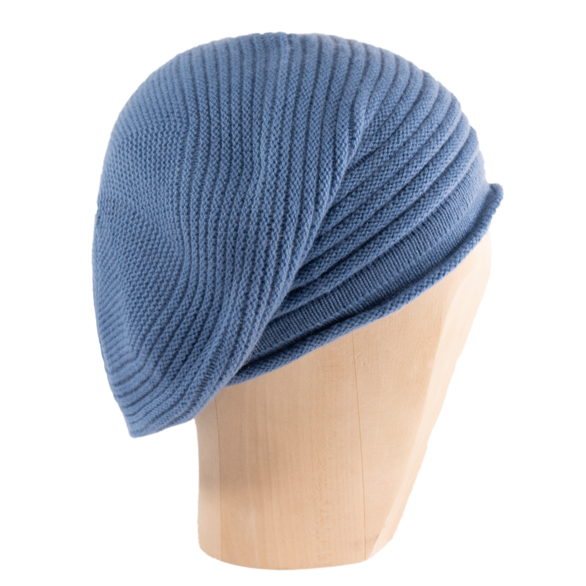 Horizontal Knit Beanie - FOGGY BLUE - product images  of