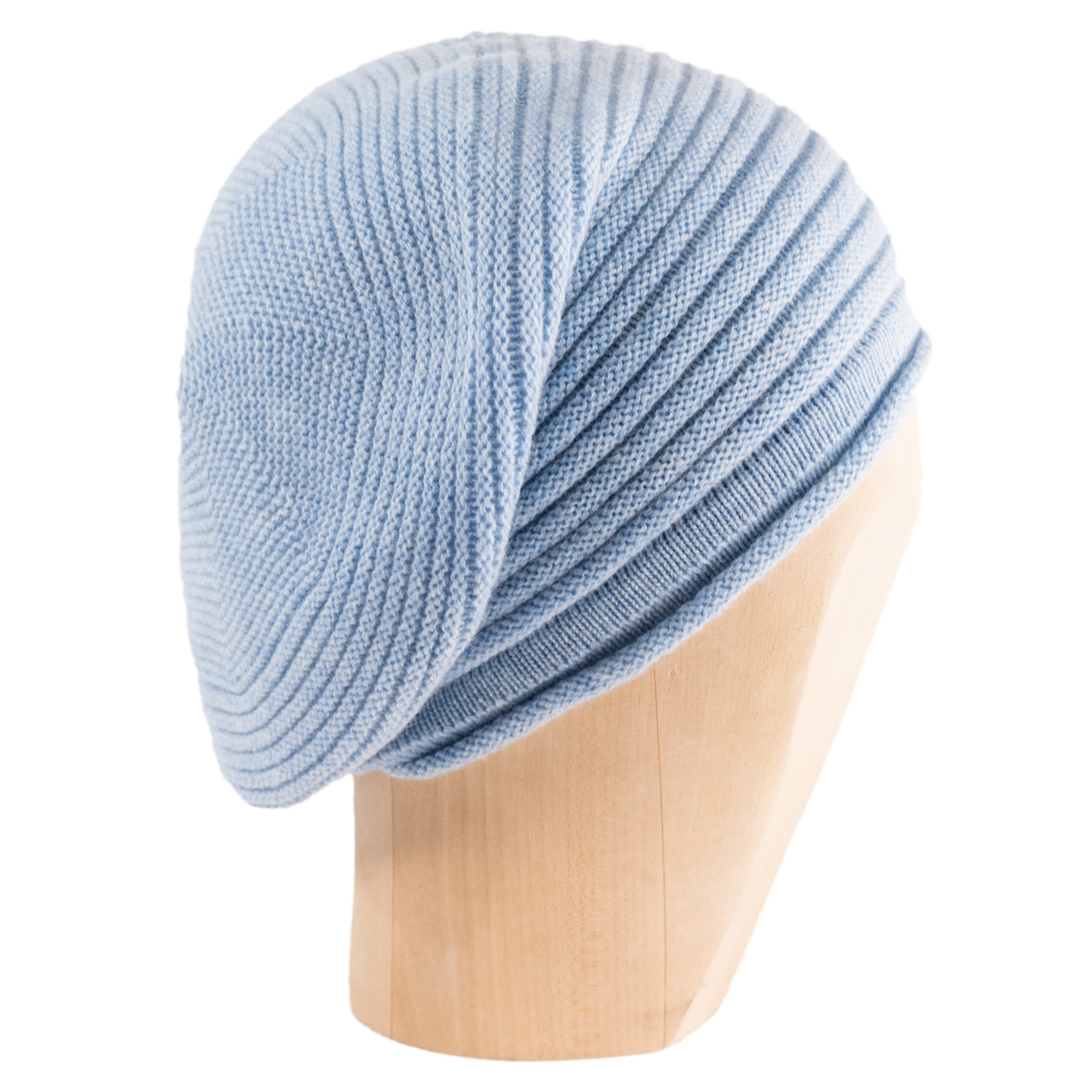 Horizontal Knit Beanie - SKY BLUE - product images  of