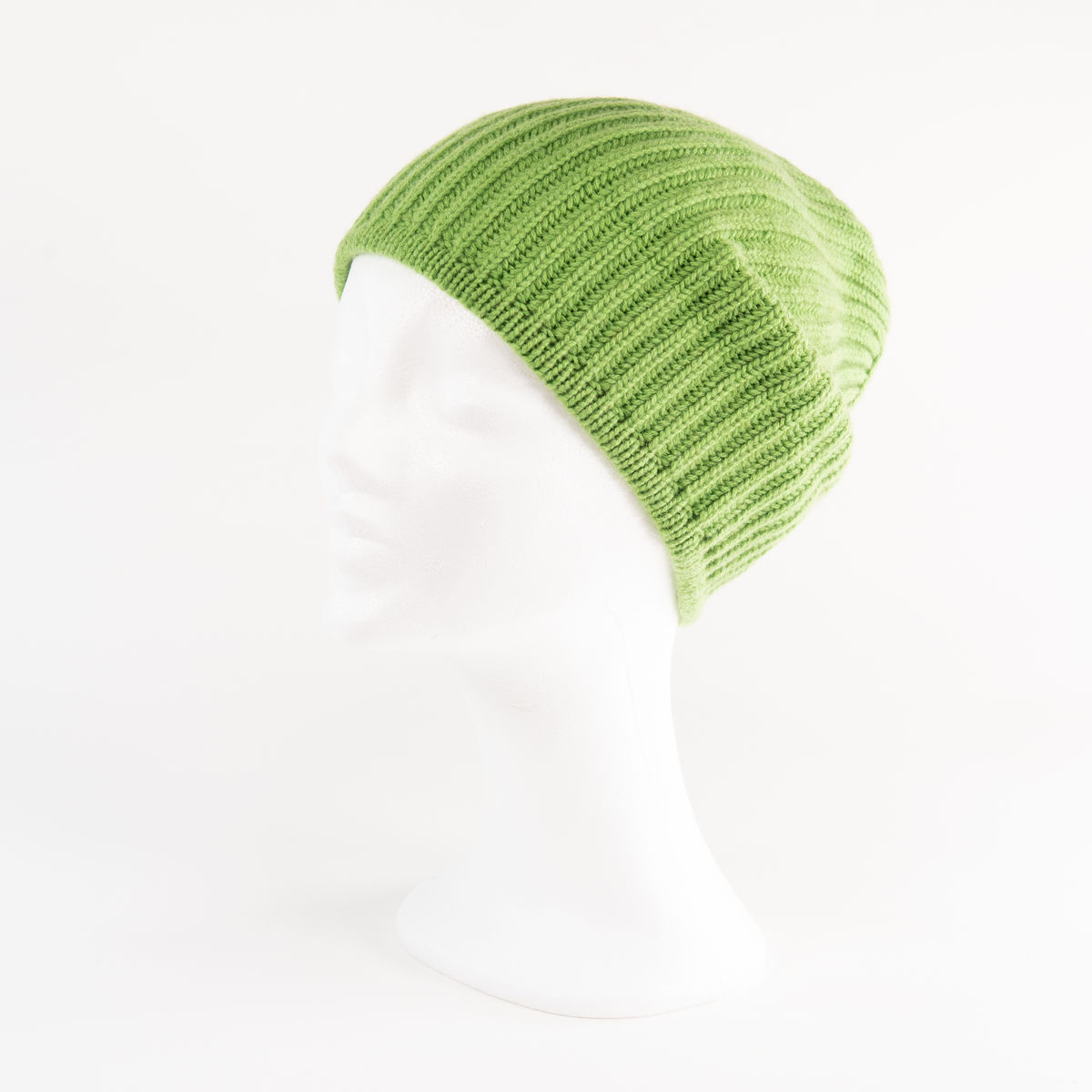 Classic Ribbed Beanie Cuff - APPLE GREEN - product images  of