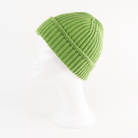 Classic,Ribbed,Beanie,Cuff,-,APPLE,GREEN,Classic ribbed Beanie Cuff cashmere kaschmir italy unisex men woman apple green apfel grün bright